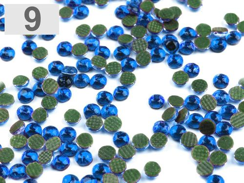 Hot-Fix Strass-Steine 3-4mm, blau