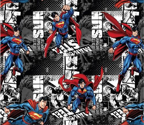 BW-Jersey Digtaldruck SUPERMAN